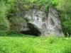 Höhle im Lautertal kurz vor der Mündung in die Donau