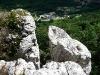 Blick vom Fels ins Tal