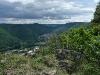 Blick ins Echaztal, zu den Traifelbergfelsen und zum Schloss Lichtenstein