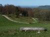 Blick vom Rossfeld zum Hohenneuffen