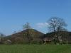 Blick zum Roßberg mit Aussichtsturm
