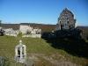 Innenhof mit Absperrungen in der Ruine Hohenurach