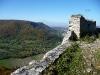 Blick von der Ruine Hohenurach ins Ermstal