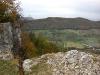 Blick vom Breitenstein zur Burg Teck