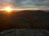 Sonnenuntergang über Burg Teck