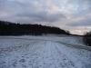 Wiesenweg im Winter