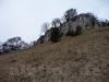 Schlossfelsen mit der Schlossruine Hohenjustingen