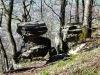 Bizarrer Fels am nördlichen Albtrauf