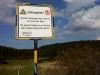 Warnschild - Ehemaliger Truppenübungsplatz Münsingen