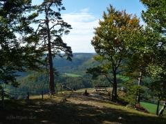 Bandfelsen hoch über dem Donautal