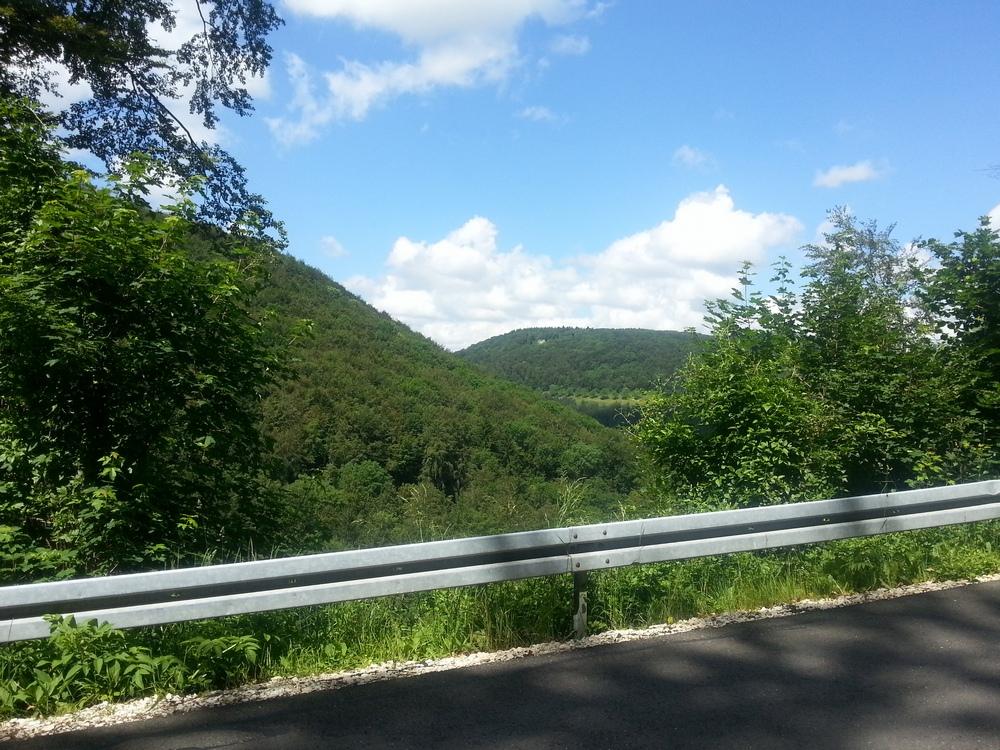 Blick von der Steige zurück ins Zellertal