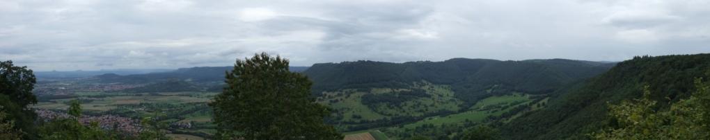 von links: Dreikaiserberge. Aichelberg, Breitenstein