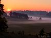 Bodennebel  bei Sonnenaufgang oberhalb von Truchtelfingen