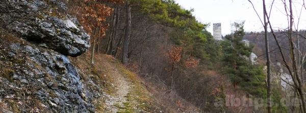 Der Weg zur Burgruine Hohenhundersingen