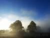 Der Nebel steigt aus dem Donautal herauf.