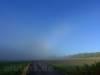Plötzlich ist auch die Albhochfläche im Nebel.