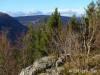 Blick vom Hochberg zur Ruine Hohenurach