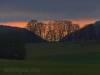 Stahleck und Zellertal bei Sonnenuntergang