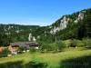 Start der Wanderung am Jägerhaus im Donautal