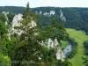 Jurafelsen über der Donau