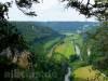 Blick vom Knopfmacher zum Kloster Beuron