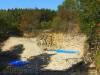 Blick in den Fossiliensteinbruch (Betreten nicht erlaubt)