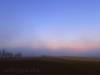 Sonnenuntergang hinter dem Nebel