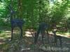 Reh-Skulptur des Waldlehrpfads von 1968
