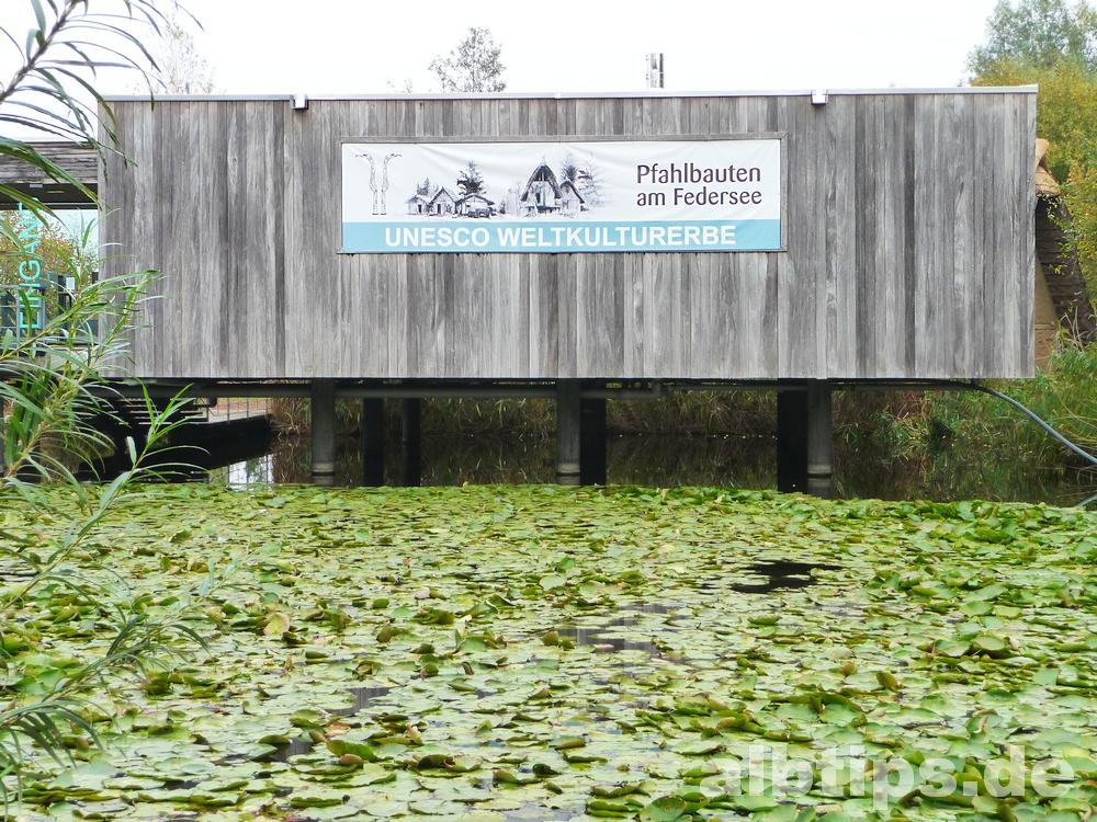 Federseemuseum mit Pfahlbauten und Steinzeitdorf