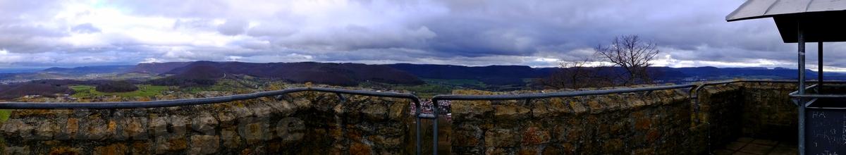 Panoramablick vom Achalm-Turm