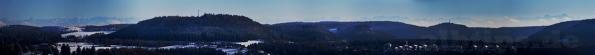 Alpen-Panorama vom Raichbergturm aus gesehen