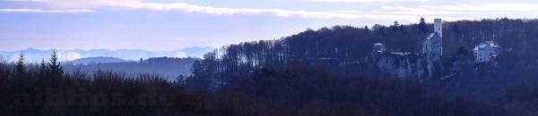 Ein Hauch von Alpenblick beim Schloss Lichtenstein
