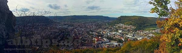 Panoramablick vom Bismarckfelsen