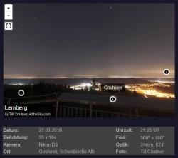 Vorschau des Panoramablicks vom Lemberg (Till Credner, allthesky.com)