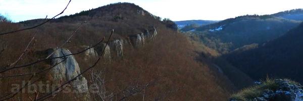 Traifelbergfelsen vom Rötelstein aus gesehen