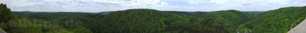 Panorama-Blick von der Ruine Wartstein