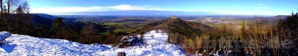 Panoramablick vom Zeller Horn zur Burg Hohenzollern