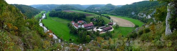 Blick ins Donautal bei Thiergarten