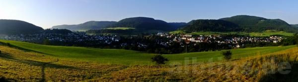 6.48 Uhr - Panoramablick über Albstadt-Lautlingen