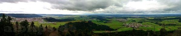 Panoramablick vom Lembergturm Richtung Westen
