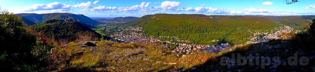 Panoramablick vom Hanner Felsen aus