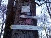 Schilder bei der Waldschenke