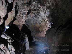 Tuffstein in der Olgahöhle
