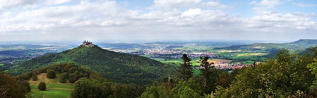 Burg Hohenzollern und Albtrauf