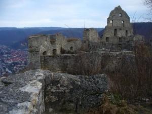 Blick von der Ruine Hohenurach auf Bad Urach