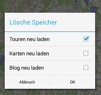 Albtips App Speicher