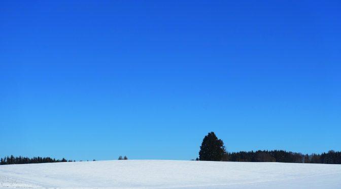 Schneespaziergang bei Eglingen